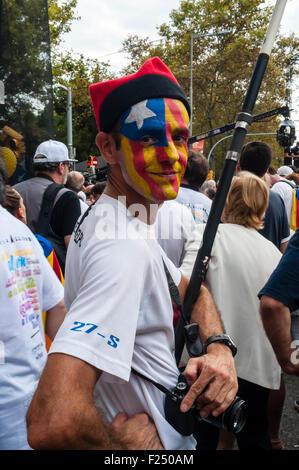 Barcelona, Katalonien, Spanien. 11. September, 2015. Über Lliure in die katalanische Republik organisiert Unabhängigkeit - Stockfoto