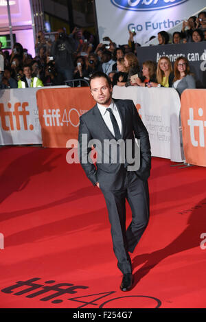 "Toronto, Ontario, Kanada. 11. September, 2015. Schauspieler SEBASTIAN STAN besucht ""The Martian"" Premiere während - Stockfoto"