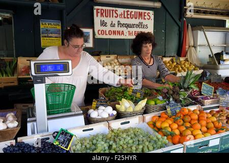 Frankreich, Var, Iles d'Hyeres, Parc National de Port Cros (National Park von Port Cros), Porquerolles island, Obst - Stockfoto