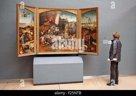 Belgien, Brüssel, Königliche Museen der schönen Künste, Museum für alte Kunst (alte Meister Museum), Triptychon - Stockfoto
