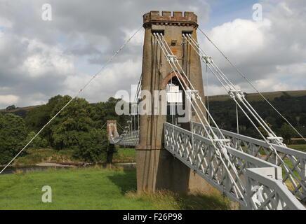 Kette Brücke über den Fluss Tweed melrose Schottland september 2015 - Stockfoto