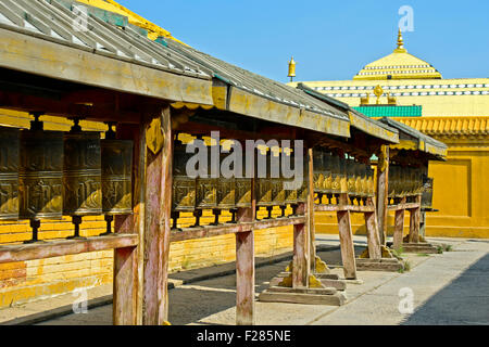 Gebet-Mühlen in das buddhistische Gandan Kloster, Ulaanbaatar, Mongolei - Stockfoto