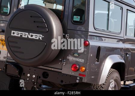 Einen Land Rover Defender 4 X 4. - Stockfoto