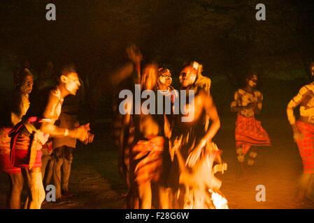 Kara Tribe der Omo-Valley,Ethiopia.One der letzten Regionen der Erde mit Stammes-Leute von solchen starken intakt - Stockfoto