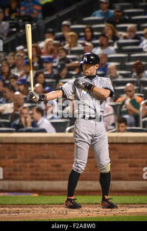 Flushing, New York, USA. 14. Sep, 2015. Ichiro Suzuki (Marlins) MLB: Ichiro Suzuki von Miami Marlins an bat während - Stockfoto