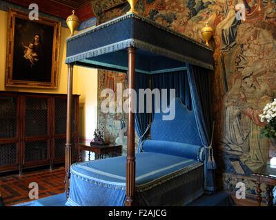 Diane de Poitiers Schlafzimmer, Schloss Chenonceau, Frankreich ...