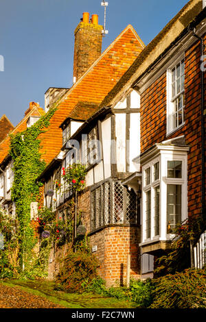 Periode Häuser In Mermaid Street, Rye, Sussex, Großbritannien - Stockfoto