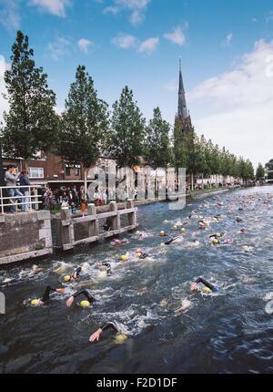 Weesp Triathlon, Niederlande - Stockfoto
