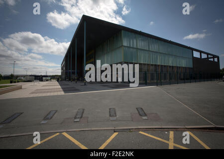 Kirkby High School, Merseyside. Die Schule hatte eine der niedrigsten Erfolgsquoten für GCHE Pässe im Jahr 2014 - Stockfoto