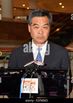 Jakarta, Indonesien. 17. Sep, 2015. China Hong Kong spezielle Administrative Region Chief Executive Leung Chun-Ying - Stockfoto