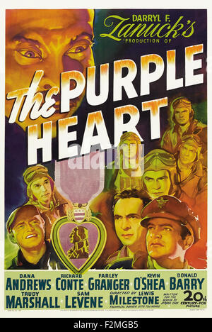 Purple Heart - Filmplakat - Stockfoto