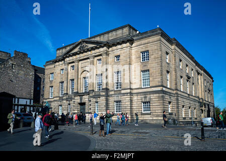 Edinburgh High Court of Justiciary in dem Lawnmarket auf der Royal Mile. - Stockfoto