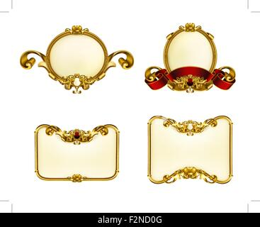 Vintage Emblem Set, 10eps - Stockfoto