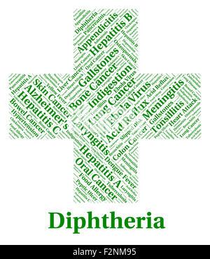 Diphtherie-Erkrankung darstellt, schlechtem Gesundheitszustand und Beschwerde - Stockfoto