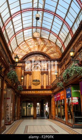 Zentralen Arcade einen Edwardian (1906) einkaufen arcade in Newcastle Upon Tyne, Tyne and Wear, England, UK - Stockfoto
