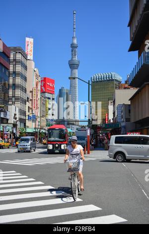 Tokio Skytree. Blick von Asakusa. Tokyo. - Stockfoto