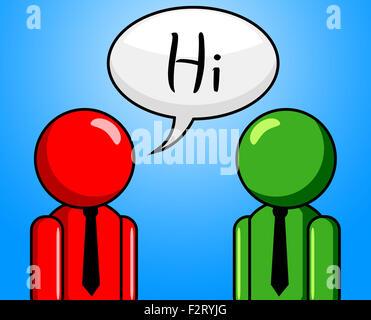 Hallo Gespräch Bedeutung wie Sie sind und guten Morgen