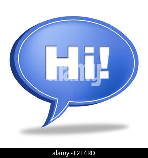 Hallo Speech Bubble Bedeutung wie Sie sind und chatten