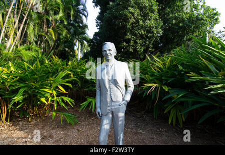 Henry Ford Automobile und Ford nach Hause und Museum in Ft Myers Florida Statue des Mannes - Stockfoto