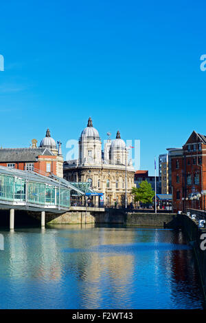 Fürsten Quay Shopping Centre und das Maritime Museum, Kingston upon Hull, East Riding of Yorkshire, England UK - Stockfoto