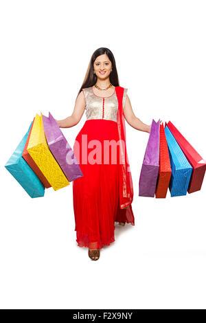 1 indische erwachsenen Frau Diwali Festival Shopping - Stockfoto