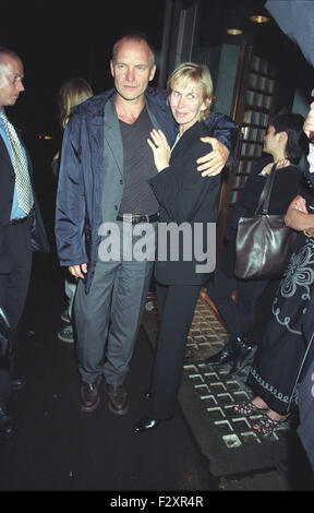 Sting und Frau Trudie Styler London Efeu, 2.9.98 (Credit Bild © Jack Ludlam) - Stockfoto