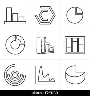 symbole stil einfachen satz von diagramm und grafiken im. Black Bedroom Furniture Sets. Home Design Ideas