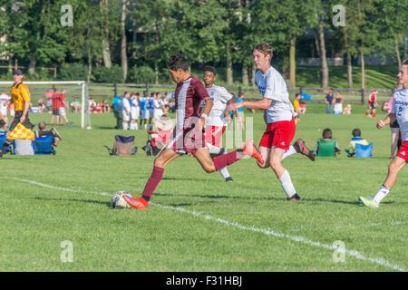 Amerikanische High School Fußballspiel - Stockfoto