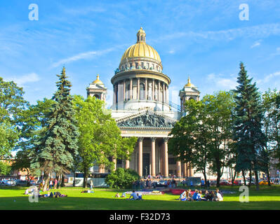 St. Petersburg, Russland - 3. Juli 2012: St. Isaak-Kathedrale. - Stockfoto