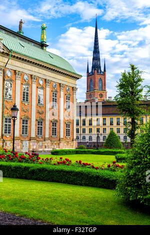 Malerische Altstadt (Gamla Stan) in Stockholm, Schweden - Stockfoto