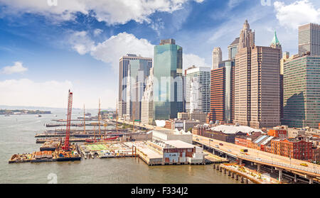 New York City Waterfront, USA. - Stockfoto