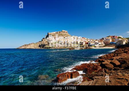 Stadt Castelsardo, Sardinien - Stockfoto