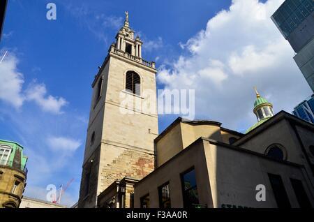 Kirche St. Stephan Walbrook, Wren Kirche, City of London, London, England, UK - Stockfoto