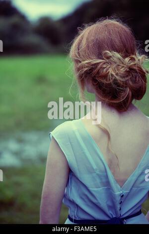 Schöne Ingwer historische Mädchen - Stockfoto