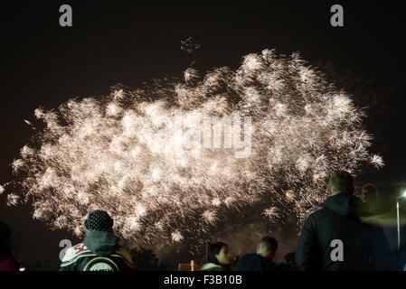 Musikalisches Feuerwerk Meisterschaften. Southport, Merseyside. 3.10.15 - Stockfoto