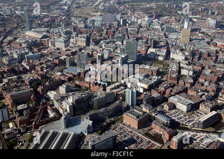 Luftaufnahme des Stadtzentrum von Manchester, UK - Stockfoto