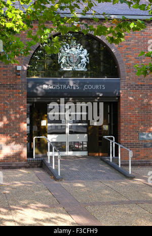 Norwich Magistrates court, Eingang, Bishopgate, Norfolk, england - Stockfoto