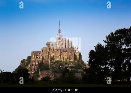 Le Mont-Saint-Michel Saint Michael Mount Benedictine Abtei untere Normandie Manche Frankreich Europa - Stockfoto