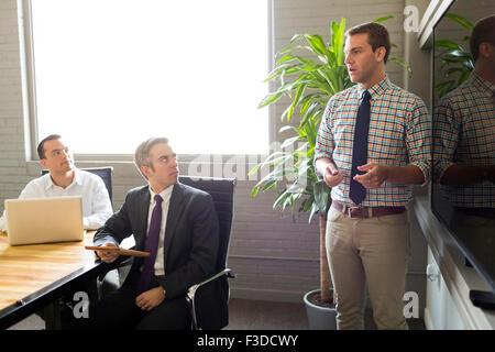 Mann, Vortrag - Stockfoto