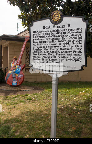 RCA Studio B in Nashville Tennessee - Stockfoto