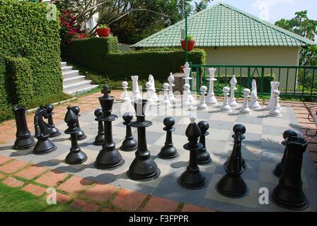 Schach-Schlüssel im Stock entworfen Schachbrett - Stockfoto