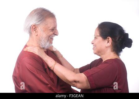Altes Ehepaar sahen einander Herr #733 - Stockfoto
