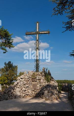 Kreuz in Rocamadour, Lot, Midi-Pyrenäen, Frankreich - Stockfoto