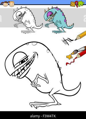 Abbildung Drachen malen zeichnen Cartoon Farbe Gefahr Kunst isoliert ...
