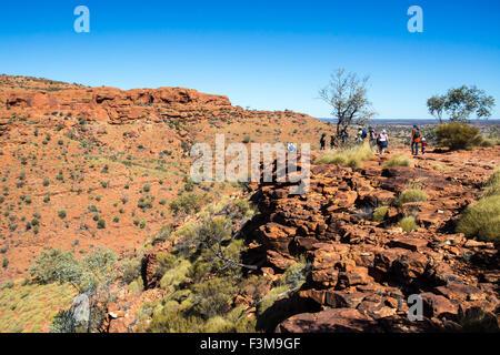 Talblick am Kings Canyon im Northern Territory, Australien - Stockfoto