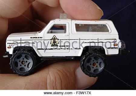 Des Kindes Spielzeugautos - Stockfoto