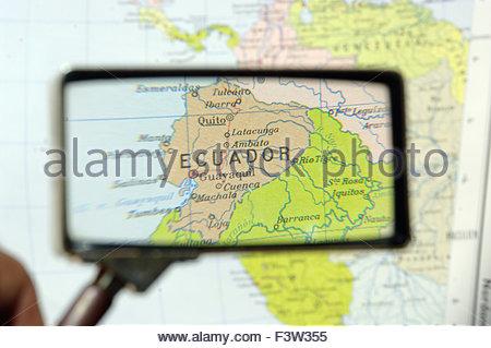 Karte von Equador - Stockfoto
