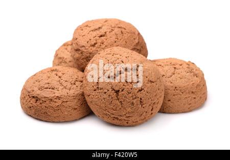 Gruppe von Haferflocken Cookies isoliert auf weiss - Stockfoto