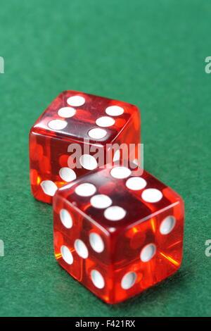 Rote Casino Wurfel