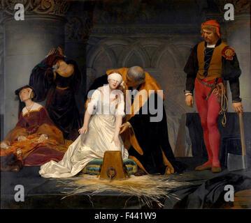 Die Hinrichtung der Lady Jane Grey - Stockfoto